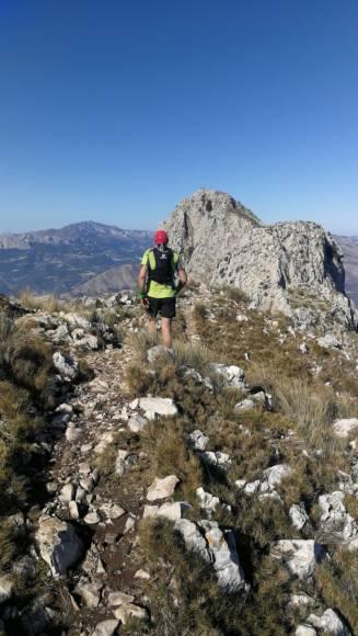 Raúl en cima de Bernia