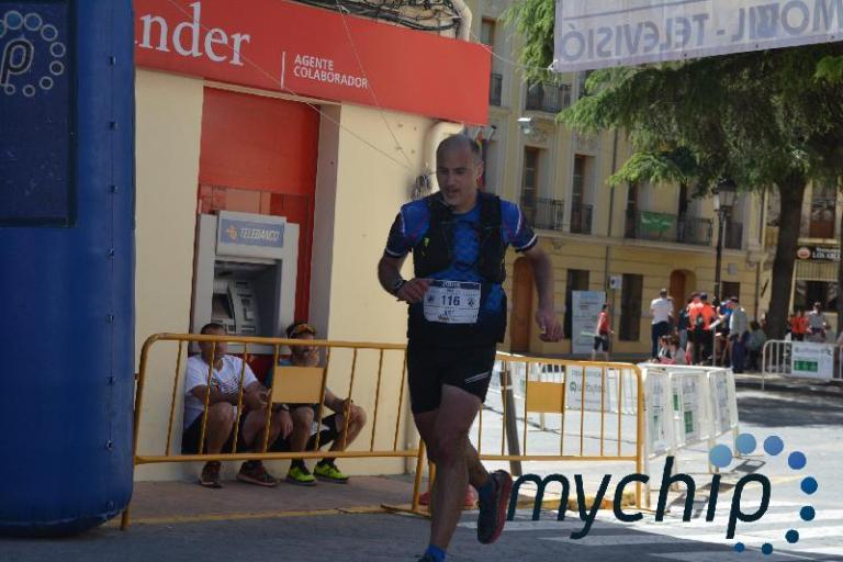 José Antonio llegando a meta