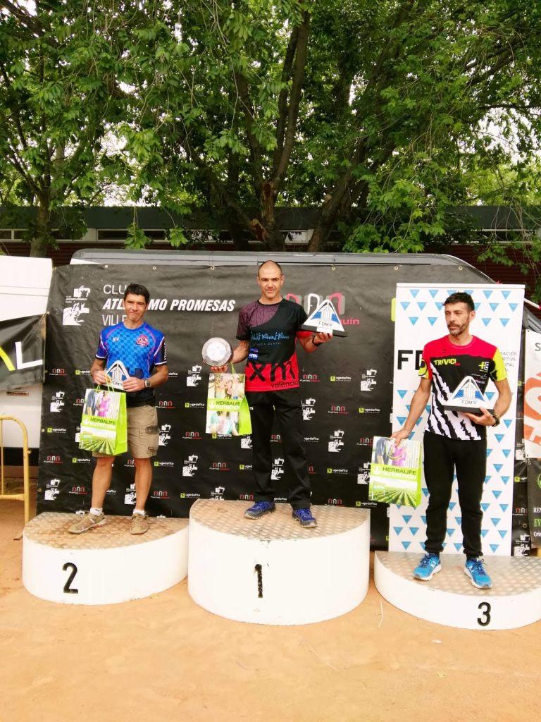 Javier Ruano en el podio