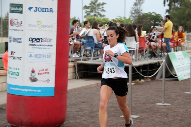 María Ángeles Gabaldón durante la prueba