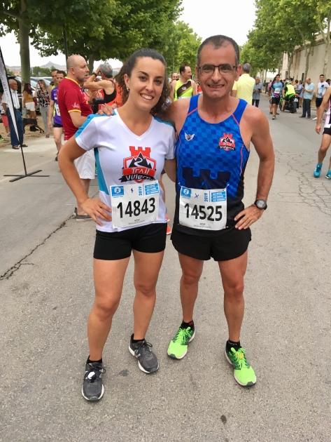 María Ángeles y Vicente antes de iniciarse la carrera