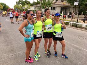 Silvia, Noelia y Rosa antes de iniciarse la carrera