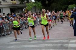 Silvia y Rosa durante la carrera